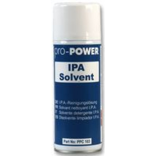 12 x 400ml IPA Solvent Aerosol Cans - Isopropyl Alcohol cleaning